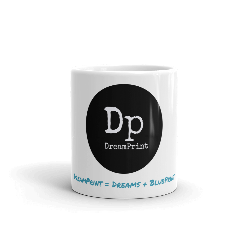 DreamPrint - Dreams + BluePrint -  Logo Mug