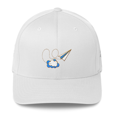 Structured Twill Cap-  Airplane Friends