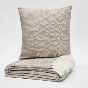 Weaver Green Cushion - Chinchilla