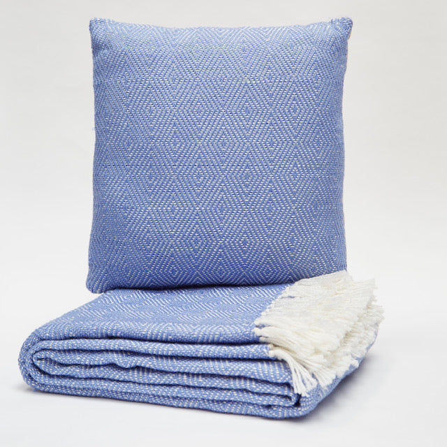 Weaver Green Diamond Throw - Cobalt