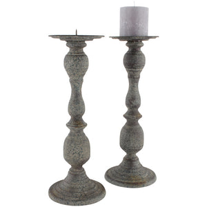 Grey Metal Candlestick