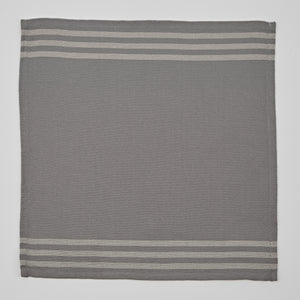 Set of 4 x Napkins Maxine Grey and Linen