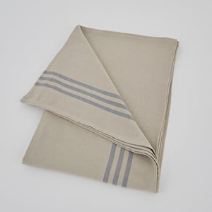 Maxime Linen and Grey Tablecloth LARGE 250cm x 160cm
