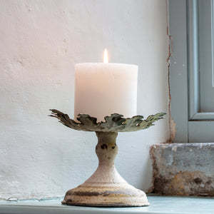 Vintage Leaf Candle Holder