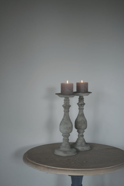 Tall Zinc Candlesticks (pair)