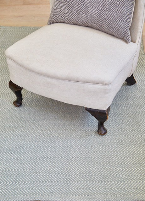 Dove Grey Herringbone Rug 150 x 90cm