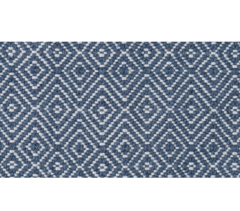 Weaver Green - Navy Diamond Rug 110 x 60cm