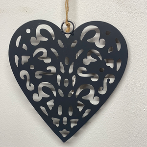 Metal Filigree Heart Decoration.