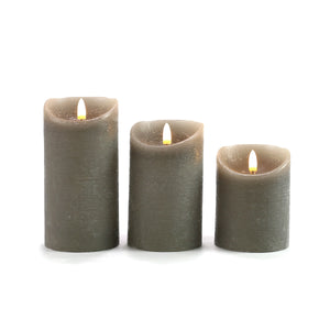 Set of 3 Fantastically realistic faux candles!