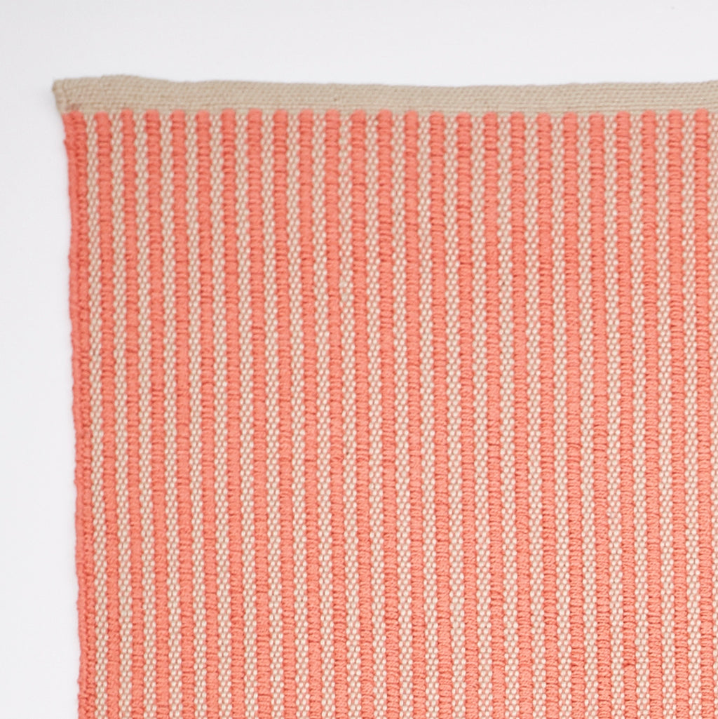 Weaver Green Bright Stripe - Coral 150 x 90cm