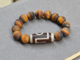 Tibet one eye dzi beaded bracelet