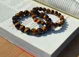 natural tiger eye beads bracelet