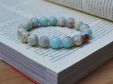 light blue beads bracelet