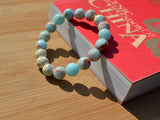 synthetic agalmatolite beaded bracelet