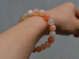 natural pink agate beaded bracelet