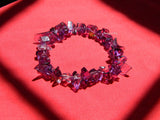 natural amethyst chips bracelet