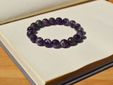 faceted amethyst beaded bracelet