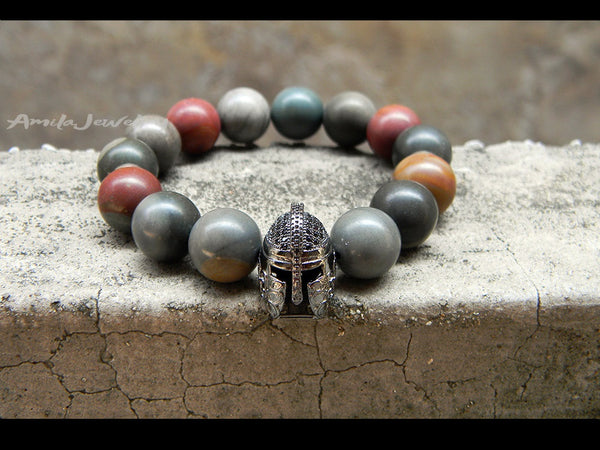 Spartan warrior beaded bracelet