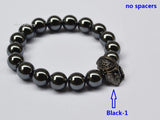 black helmet beaded bracelet