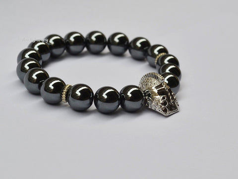 mens helmet beaded bracelet