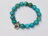 green turquoise beaded bracelet