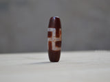 Tibetan cross dzi bead