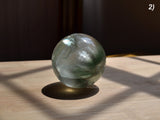 natural green fluorite sphere