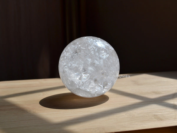 big clear crystal sphere