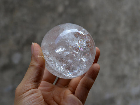 natural clear quartz sphere