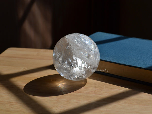 healing clear crystal sphere