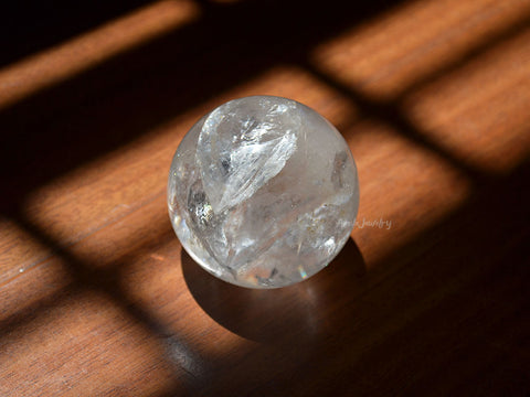 clear white quartz crystal sphere