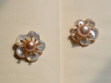 pearl beads flower brooch