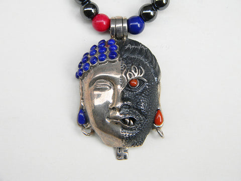 mens buddha necklace Zen necklace