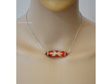 wood dzi bead adjustable necklace
