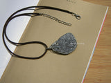 wire wrapped druzy pendant necklace
