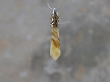yellow crystal bullet pendant necklace
