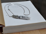 white turquoise pendant necklace