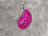 natural carmine druzy necklace