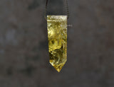 yellow quartz pointed pendant necklace