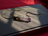 natural amethyst bar pendant