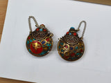 Tibetan snuff bottle pendant necklace