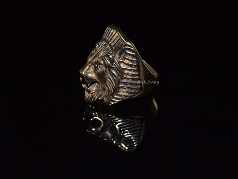 mens lion ring