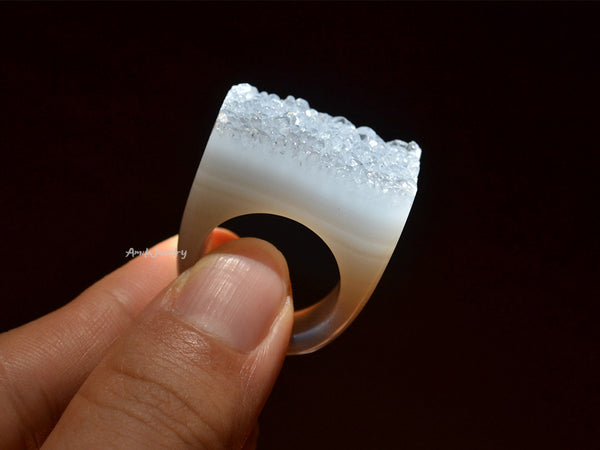 natural druse ring