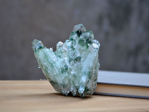 raw green quartz mineral specimen