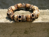 Halloween bracelet skull beaded