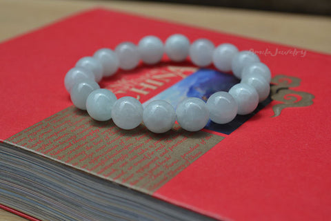 natural Aquamarine beaded bracelet