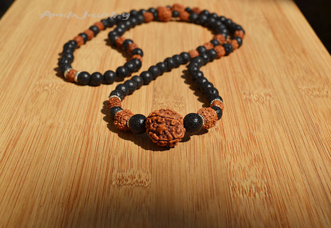 lava rock beaded diffuser necklace