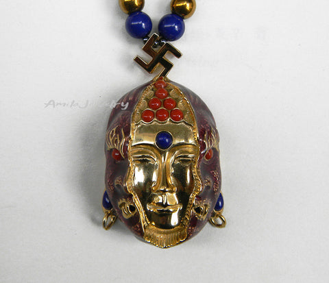 gold buddha pendant necklace
