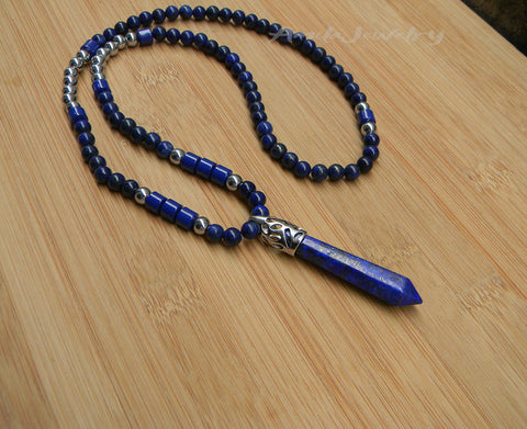mens healing stone point bullet pendant necklace