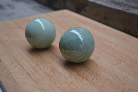 natural light green gemstone sphere